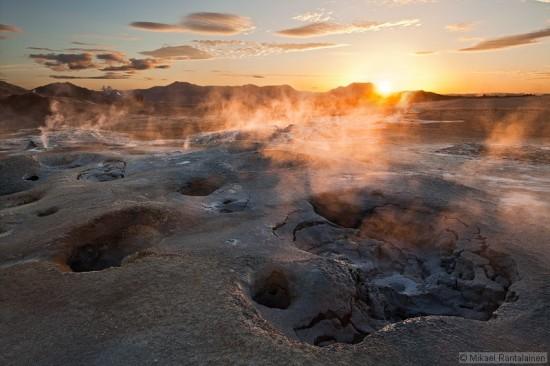 Geothermal area in Hverir, Iceland